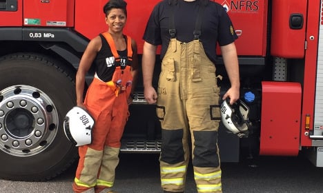 Don't let size fool you! Meet Sweden's tiniest firefighter