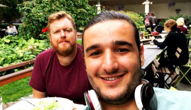 This Syrian snuck into a Swedish comedian's heart — through his belly