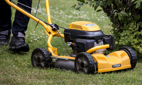 Swede fined for harassing his neighbour with a lawnmower