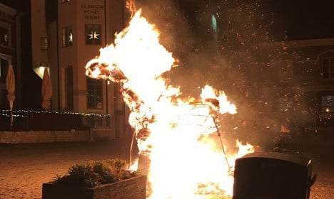 Second Christmas goat burned down in Sweden