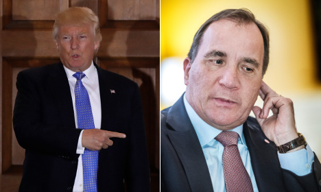 Trump praises Sweden in first phone chat with Swedish PM
