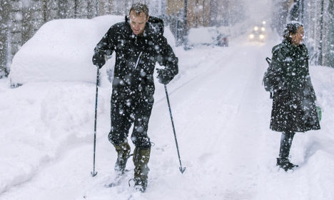 Northern Swedes relax while Stockholm drowns in snow