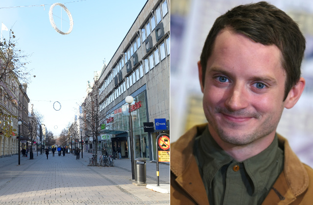 Is Elijah Wood in Sundsvall and what is he doing there?