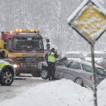 Snow and ice disrupt flights and roads in Sweden