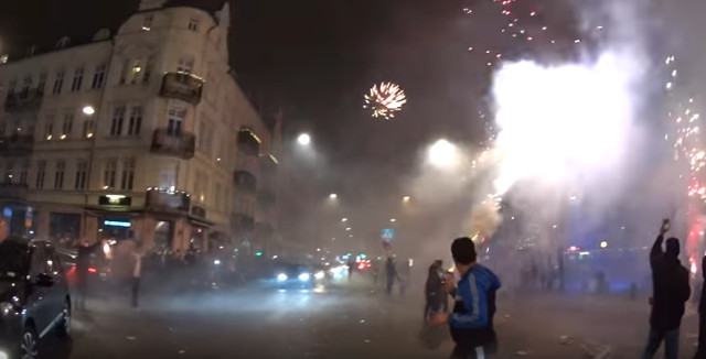 Swedish video of New Year's fireworks being shot at crowds goes viral