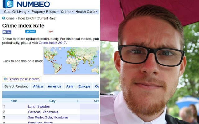 How one Swede made a city the world's 'most dangerous' to expose fake stats