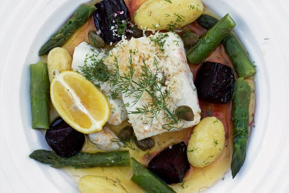 How to make Swedish baked cod with browned butter