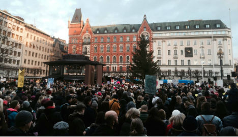More than a thousand march against Trump in Stockholm