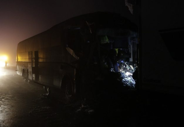 One dead and several injured in Swedish pile-up