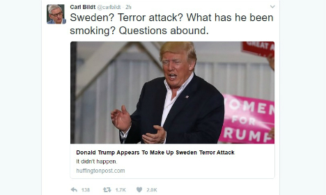 Swedes baffled by Trump's 'last night in Sweden' comment