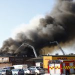 Police question man after fire engulfs Swedish building