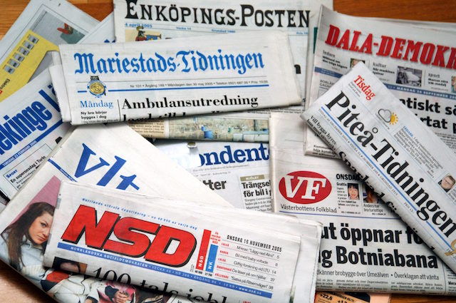 Sweden boasts second place in press freedom ranking