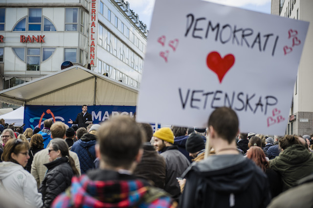 Swedes on the march for science