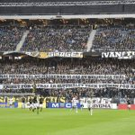 Swedish football fans protest mask ban by wearing niqabs