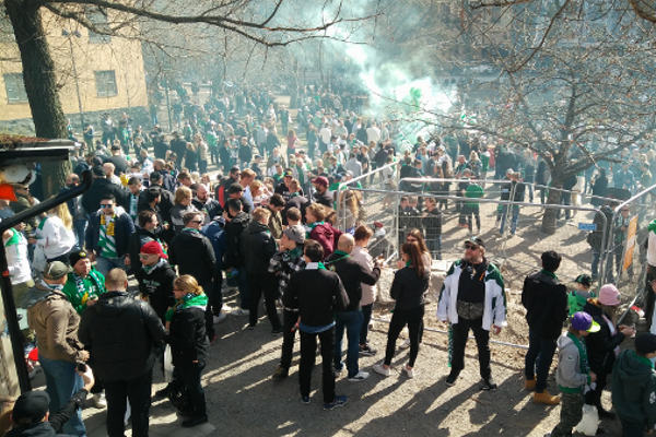 IN PICTURES: Hammarby football fans march through Stockholm