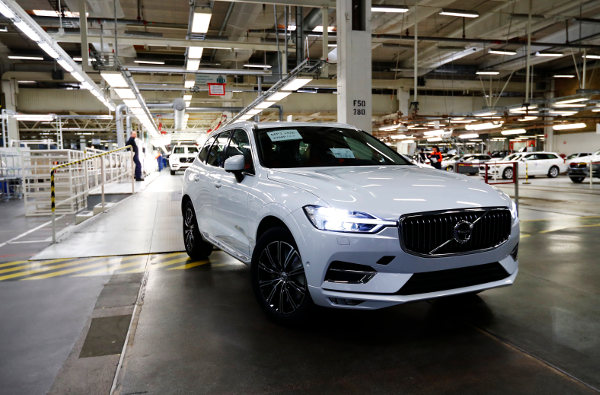 IN PICTURES: First new Volvo XC60 rolls off the line in Sweden