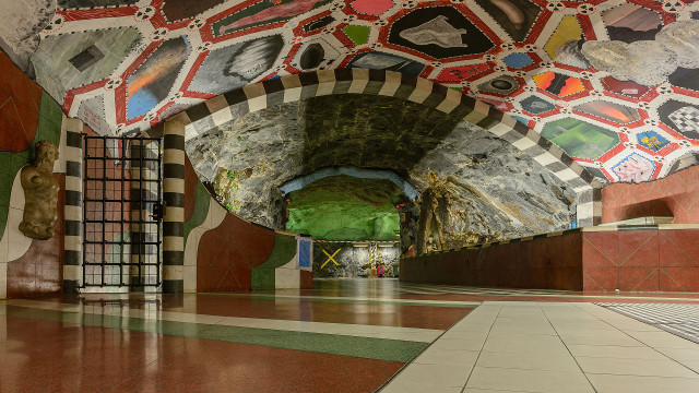IN PICTURES: Celebrating Stockholm's metro, the world's longest art gallery