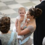 Crown Princess Victoria with her daughter Princess Estelle at the wedding of Victoria's younger sister Madeleine in 2013Photo: Frederik Sandberg/TT