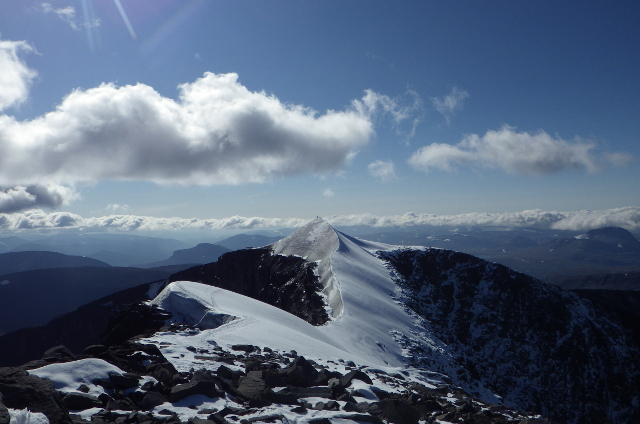 Sweden's highest mountain grew by more than a metre this year