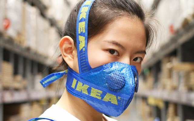 Meet the Chinese designer making pollution masks out of Ikea bags