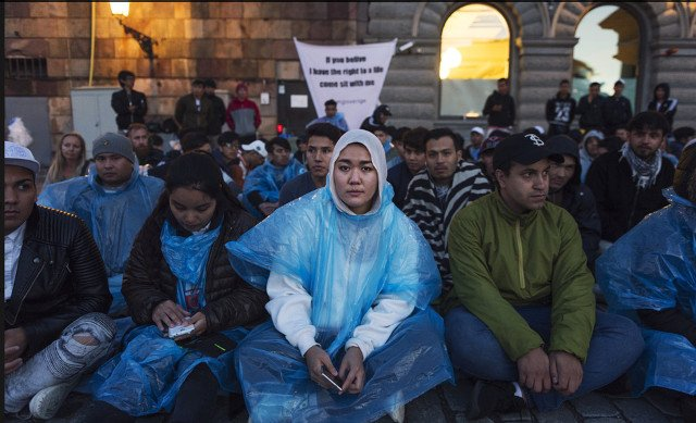 Refugee youths protest Swedish deportations to Afghanistan