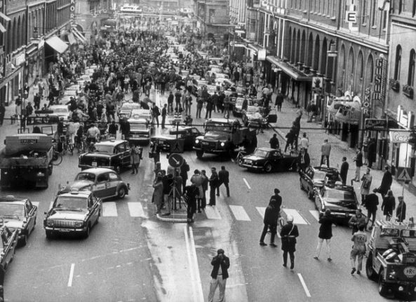 The day Sweden switched to driving on the right