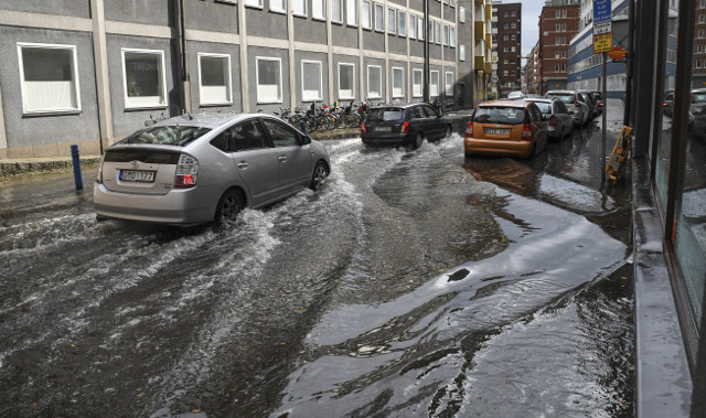 In pictures: Storm floods basements and shops in Malmö