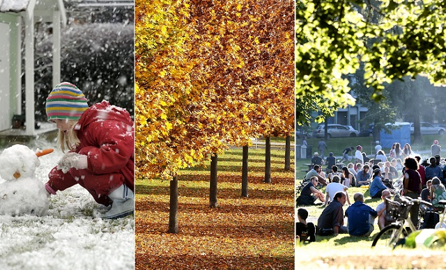 Sweden experiences three seasons in one day