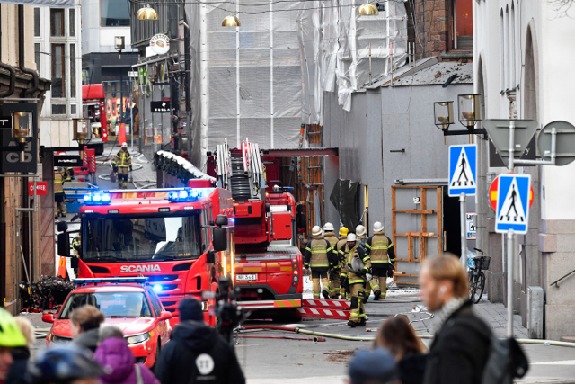 Iconic 19th century building gutted in Stockholm fire