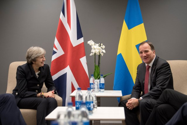 May faces Brexit pressure at EU summit in Sweden