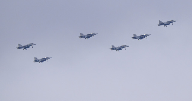 Why 16 fighter jets flew over Stockholm on Wednesday