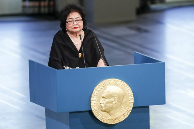 Anti-nuclear group sounds warning at Nobel Peace Prize ceremony in Norway