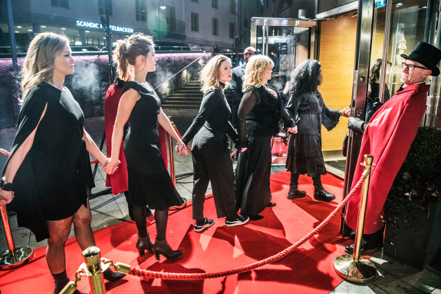 In pictures: Swedish stars stage #MeToo protest at movie awards