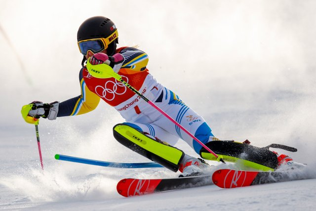 Sweden's Frida Hansdotter skis to Olympic gold