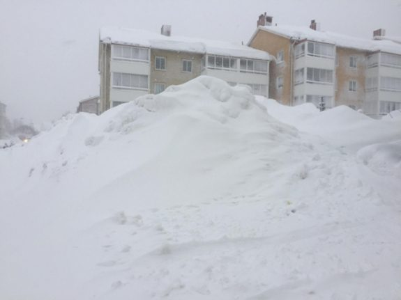 IN PICTURES: Schools and trains cancelled as snowdrifts trouble parts of Sweden