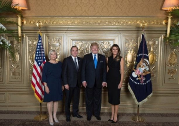 Swedish PM to hold joint press conference with Donald Trump
