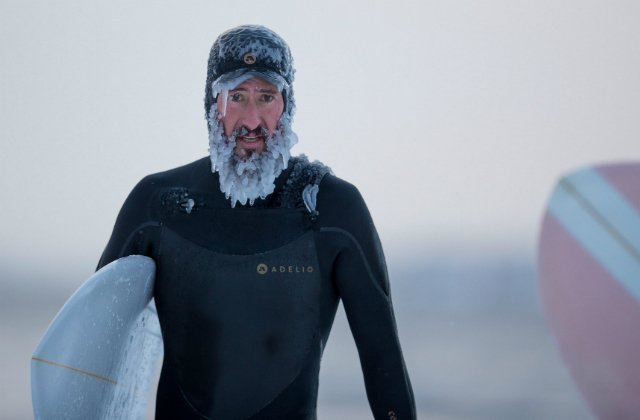 IN PICTURES: Surfing the 'Beast from the East' in ice-cold Swedish waters