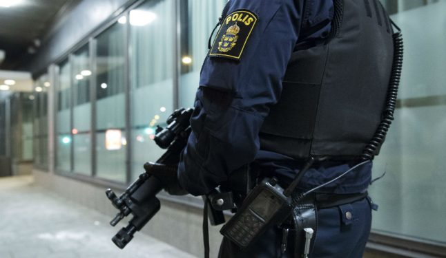 Armed officers posted outside Malmö police stations