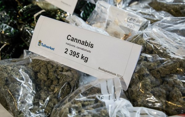 Swedish customs made record drug busts in 2017