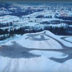 DRONE VIDEO: Snow-dump mountain looms over Swedish town