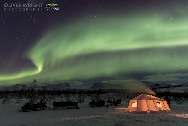 WATCH: Spectacular real time video of Northern Lights over Swedish Lapland