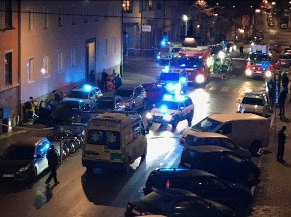 Stockholm car chase ends in arrest following multiple collisions