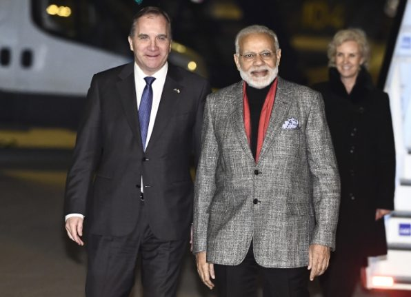 Indian PM Modi in Sweden for Nordic summit