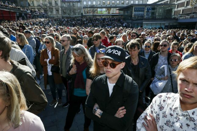 Swedish Avicii fans pay tribute to star DJ at Stockholm event
