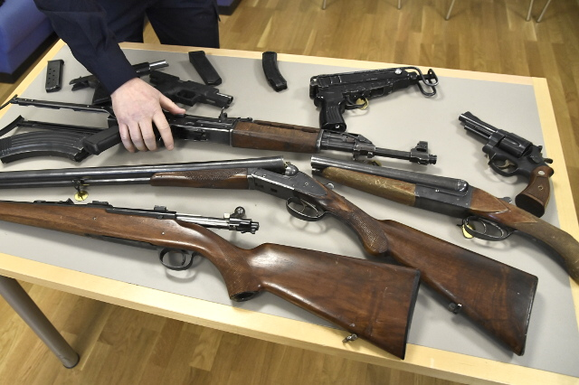 Stockholm sniffer dog uncovers gun 'suited for war' in drug and weapons haul