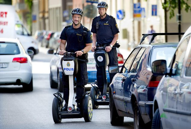 IN PICTURES: Stockholm's segway police are here to stay