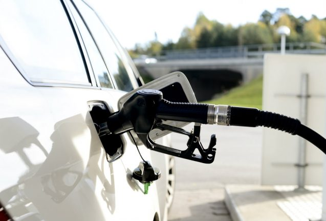 Swedish woman soaked by fuel at automated petrol station