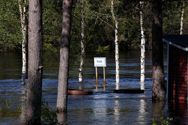 IN PICTURES: Dramatic flooding in northern Sweden