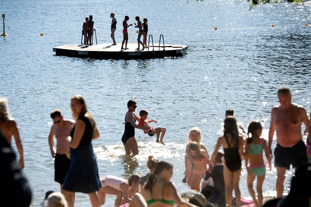 Sweden's early summer heatwave set for a pause