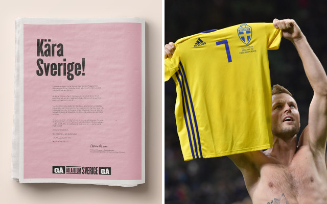 'Anyone but Sweden': Italy fans take out salty full-page ad in Swedish newspaper
